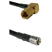 SSMC Right Angle Female on LMR100 to 10/23 Male Cable Assembly