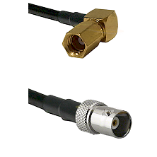 SSMC Right Angle Female on LMR100 to BNC Female Cable Assembly