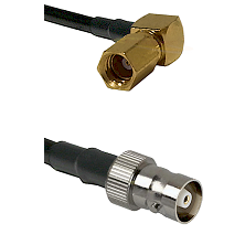 SSMC Right Angle Female on LMR100 to C Female Cable Assembly