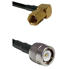 SSMC Right Angle Female on LMR100 to C Male Cable Assembly