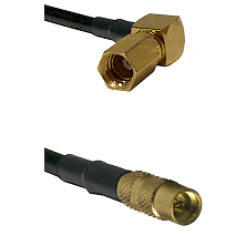 SSMC Right Angle Female on LMR100 to MMCX Female Cable Assembly