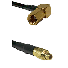 SSMC Right Angle Female on LMR100 to MMCX Male Cable Assembly