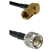 SSMC Right Angle Female on LMR100 to Mini-UHF Male Cable Assembly