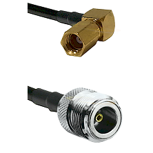 SSMC Right Angle Female on LMR100 to N Female Cable Assembly