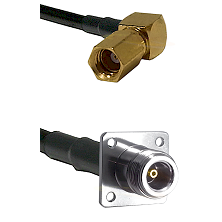 SSMC Right Angle Female on LMR100 to N 4 Hole Female Cable Assembly