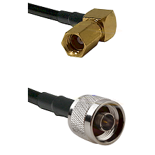 SSMC Right Angle Female on LMR100 to N Male Cable Assembly