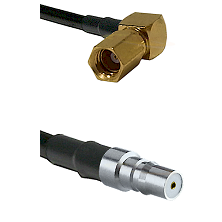 SSMC Right Angle Female on LMR100 to QMA Female Cable Assembly