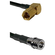 SSMC Right Angle Female on LMR100 to QMA Male Cable Assembly