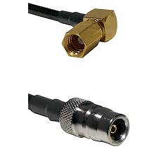 SSMC Right Angle Female on LMR100 to QN Female Cable Assembly