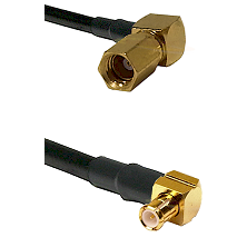 SSMC Right Angle Female on LMR200 to MCX Right Angle Male Cable Assembly
