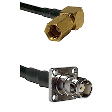 SSMC Right Angle Female on LMR200 to TNC 4 Hole Female Cable Assembly