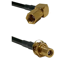 SSMC Right Angle Female on RG142 to SLB Female Bulkhead Cable Assembly