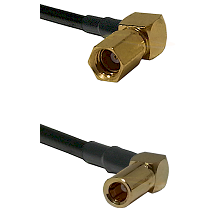 SSMC Right Angle Female on RG188 to SSMB Right Angle Female Cable Assembly