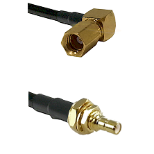 SSMC Right Angle Female on RG188 to SSMB Male Bulkhead Cable Assembly