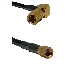 SSMC Right Angle Female on RG188 to SSMC Female Cable Assembly