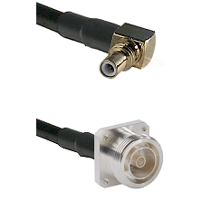 SSMC Right Angle Male on Belden 83242 RG142 to 7/16 4 Hole Female Cable Assembly