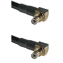 SSMC Right Angle Male on Belden 83242 RG142 to SSMC Right Angle Male Cable Assembly