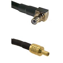 SSMC Right Angle Male on Belden 83242 RG142 to SSLB Male Cable Assembly
