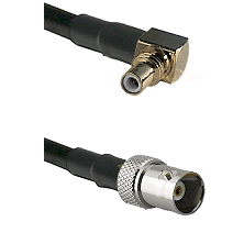 SSMC Right Angle Male on LMR100 to BNC Female Cable Assembly