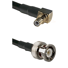SSMC Right Angle Male on LMR100 to BNC Male Cable Assembly