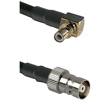 SSMC Right Angle Male on LMR100 to C Female Cable Assembly