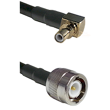 SSMC Right Angle Male on LMR100 to C Male Cable Assembly
