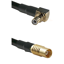 SSMC Right Angle Male on LMR100 to MCX Female Cable Assembly