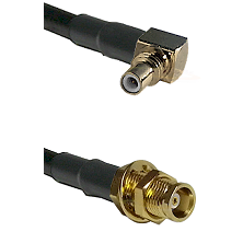 SSMC Right Angle Male on LMR100 to MCX Female Bulkhead Cable Assembly