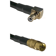 SSMC Right Angle Male on LMR100 to MMCX Female Cable Assembly