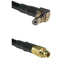 SSMC Right Angle Male on LMR100 to MMCX Male Cable Assembly