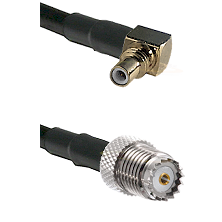 SSMC Right Angle Male on LMR100 to Mini-UHF Female Cable Assembly