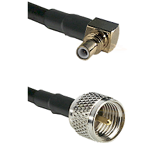 SSMC Right Angle Male on LMR100 to Mini-UHF Male Cable Assembly