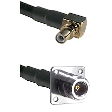 SSMC Right Angle Male on LMR100 to N 4 Hole Female Cable Assembly