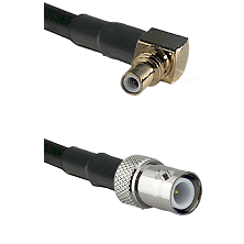 SSMC Right Angle Male on LMR195 to BNC Reverse Polarity Female Cable Assembly