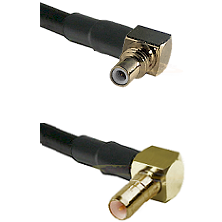 SSMC Right Angle Male on RG188 to SSMB Right Angle Male Cable Assembly
