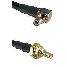 SSMC Right Angle Male on RG188 to SSMB Male Bulkhead Cable Assembly