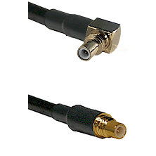 SSMC Right Angle Male on RG188 to SSMC Male Cable Assembly