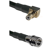 SSMC Right Angle Male on RG316 to QMA Male Cable Assembly