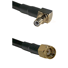 SSMC Right Angle Male on RG316DS Double Shielded to SMA Reverse Polarity Male Cable Assembly