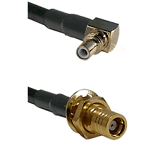SSMC Right Angle Male on RG316DS Double Shielded to SMB Female Bulkhead Cable Assembly