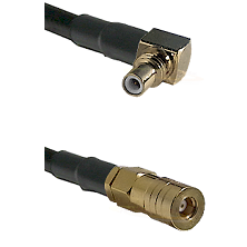 SSMC Right Angle Male on RG316DS Double Shielded to SSMB Female Cable Assembly