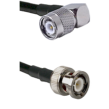 TNC Right Angle Male on LMR100/U to BNC Male Cable Assembly