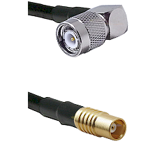 TNC Right Angle Male on LMR100 to MCX Female Cable Assembly