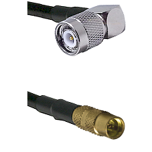 TNC Right Angle Male on LMR100 to MMCX Female Cable Assembly