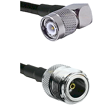 TNC Right Angle Male on LMR100 to N Female Cable Assembly