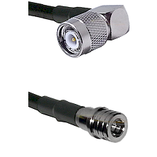 TNC Right Angle Male on LMR100 to QMA Male Cable Assembly