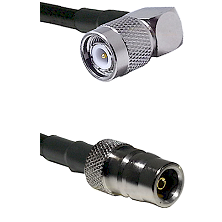 TNC Right Angle Male on LMR100 to QN Female Cable Assembly