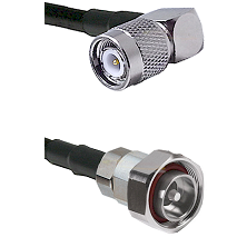 TNC Right Angle Male on LMR-195-UF UltraFlex to 7/16 Din Male Cable Assembly