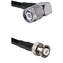 TNC Right Angle Male on LMR-195-UF UltraFlex to MHV Male Cable Assembly