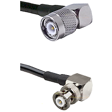 TNC Right Angle Male on LMR-195-UF UltraFlex to MHV Right Angle Male Cable Assembly